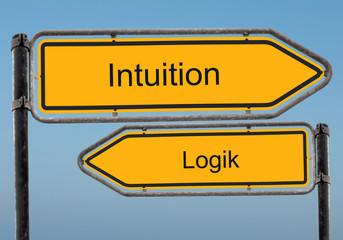 Strassenschild 39 - Intuition