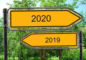Strassenschild 40 - 2020