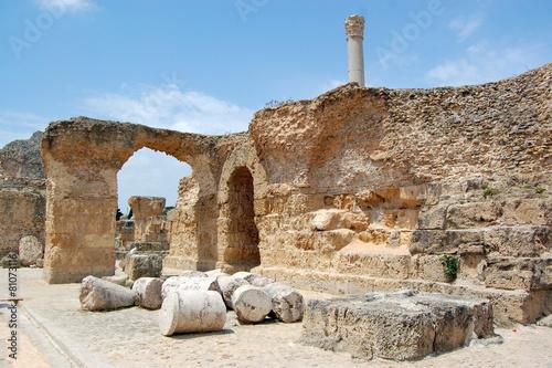In de dag Tunesië Carthage ruins