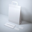 Blank stationery with paper bag