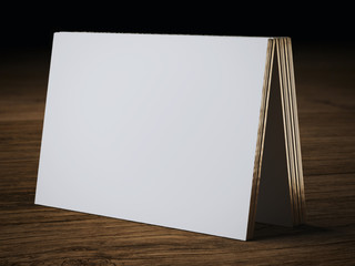 white bussiness card mockup