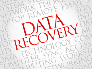 Data Recovery word cloud concept