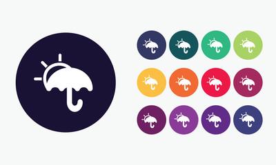 Umbrella icon - Vector illustration 7
