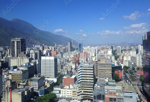 Fotobehang Caraïben Caracas skyline