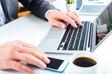 Woman. Female hands on keyboard
