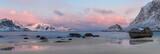 Fototapety Sunrise at Haukland Beach, Lofoten