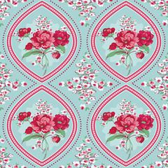 Vintage Floral Background - Seamless Flowers Tile Pattern