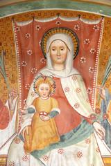 Madonna con Bambino; affresco; eremo S. Alberto, Butrio