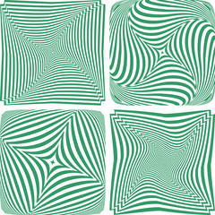 Rotation and twisting. Abstract designs set.
