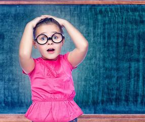 portrait of a girl schoolgirl costs about Chalkboard