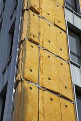 Isolation extérieure d'un immeuble en construction