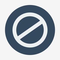 Single flat deny icon. Vector illustration. Cancel icon.