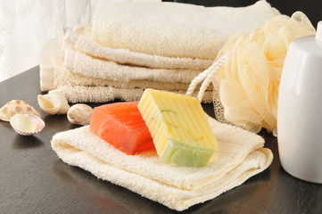 Luxury bath soaps
