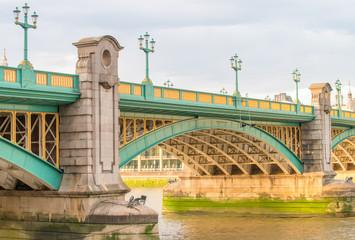 Section of Southwark Bridge, over River Thames, London