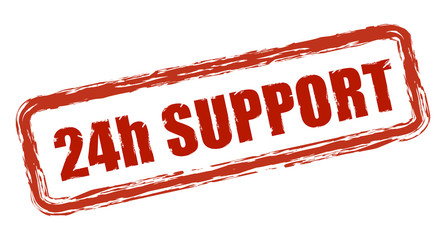 24h SUPPORT Stempel