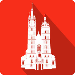 church, vector illustration