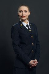 beautiful woman airline pilot