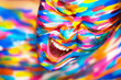 Portrait of the bright beautiful girl with art colorful make-up - 81081741