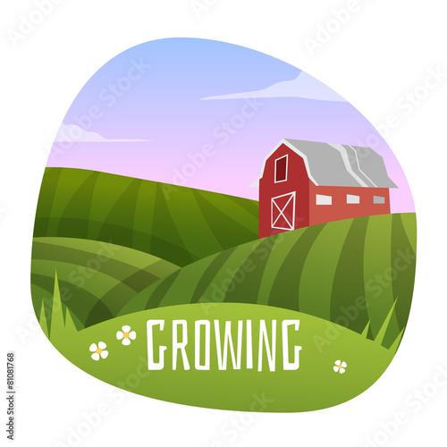 Farm Landscape - 81081768