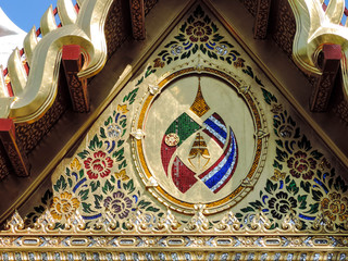Pormenor decoração telhado chinês