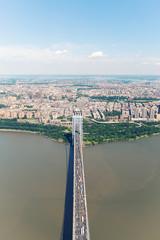 George Washington Bridge. Aerial view view of New York City