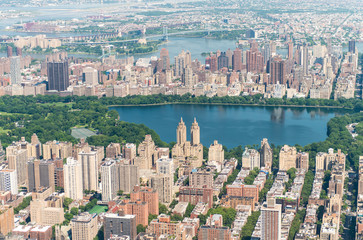 Aerial view of Jacqueline Kennedy Onassis Reservoir in Central P