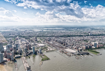 Aerial view of Jersey City area