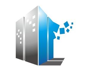 3d apartment real estate mortgage logo