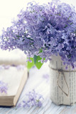 Fototapety Bouquet of purple lilac spring flowers