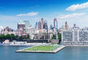 Aerial view of Manhattan, West Side