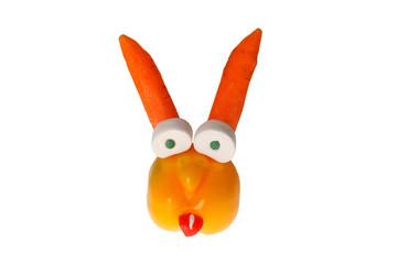 Paprika-Karotten-Hase