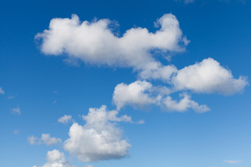 White Clouds on Bright Blue Sky