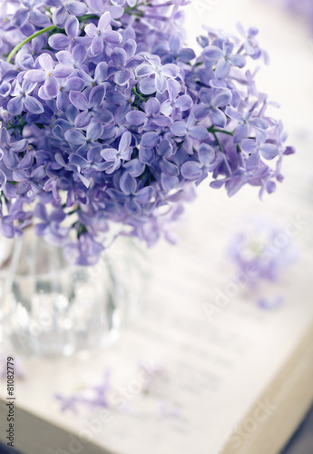 Bouquet of purple lilac spring flowers - 81082779