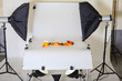 Leinwanddruck Bild - Photo table for product photography in a studio