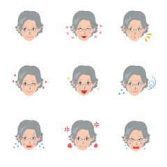 高齢者 顔 表情 パターン
