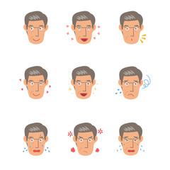 高齢男性 表情 パターン