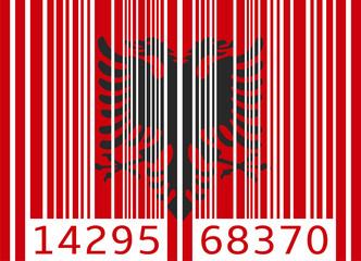 bar code flag albania