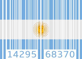 bar code flag argentina