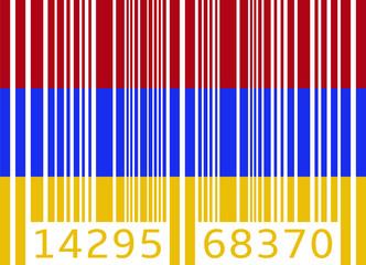 bar code flag armenia