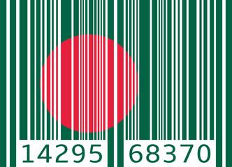 bar code flag bangladesh