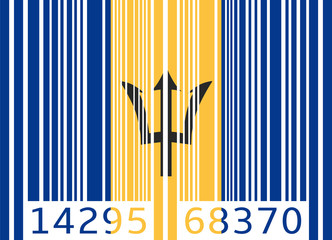 bar code flag barbados