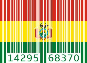 bar code flag bolivia
