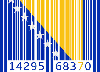 bar code flag bosnia and herzegovina