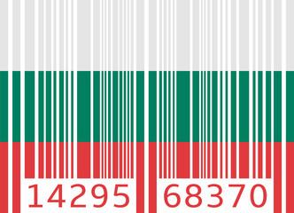 bar code flag bulgaria