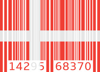 bar code flag denmark