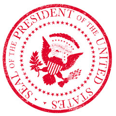 President Seal Rubber Stamp