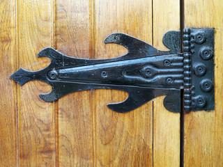 Very old ironwork hinges