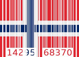 bar code flag norway