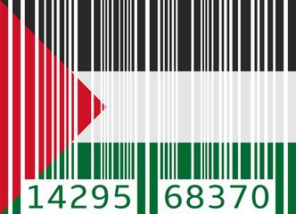 bar code flag palestine