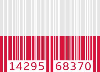 bar code flag poland